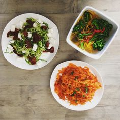 Fiona from our team whipped up these delicious looking (& super healthy) dishes with our Grown With Love spiralized range, available at @Ocado
