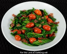 SPINACH, TOMATO, AND BACON SAUTÉ