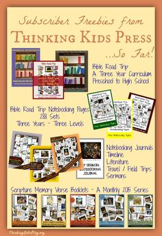 Don't miss the biblically-focused subscriber freebies from Thinking Kids Press!