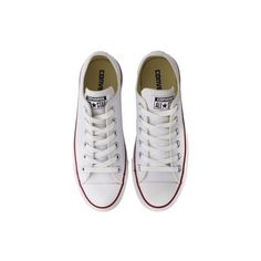 Converse Chuck Taylor All Star White Leather Trainers ($78) ❤ liked on Polyvore featuring shoes, sneakers, converse, converse footwear, converse shoes, star shoes, leather footwear and genuine leather shoes