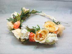 Flower crown Flower accessory Flower headband Flowers for hair