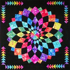 Vivid Dahlia quilt on From Marti Michell