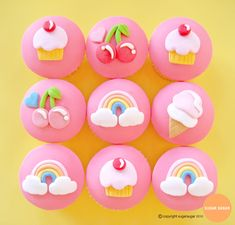 Rainbow Cupcakes 2