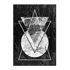 Marble Triangle Print Art (€21) found on Polyvore featuring home, home decor, wall art, backgrounds and marble home decor