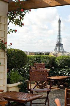 This romantic rooftop terrace has perfect Eiffel Tower views. Hotel Raphael (Paris, France) - Jetsetter