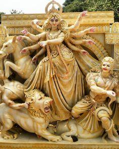 Durga Maa Paintings, Durga Painting, Lord Ganesha Paintings, Durga Ji, Saraswati Goddess, Kali Goddess, Durga Images, Radha Krishna Images, Krishna Art