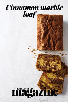 A cut-and-come-again cake, this cinnamon marble loaf cake is perfect with a pot of steaming coffee Bread Cake, Loaf Cake, Sweet Recipes, Yummy Recipes, Yummy Food, Loaf Recipes, Cake Recipes, Small Cake, Sweet Bread