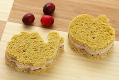 Turkey Cranberry Tea Sandwiches