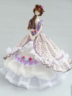 Купить Текстильная кукла.Тряпиенс. Арина - сиреневый, тряпиенсы, тряпиенса, тряпиенс, корейские тряиенсы