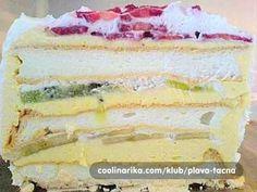 Ledeni vjetar sa bananama i kivijem Vanilla Cake, Cheesecake, Desserts, Food, Cakes, Banana, Kuchen, Projects, Tailgate Desserts