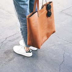 Madewell tan leather tote