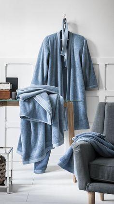 Serviette de bain éponge bio Essentiel Céleste 60x100