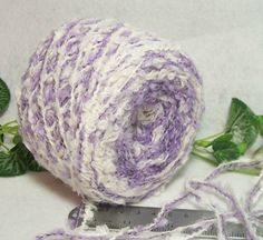 Daydream Yarn Combo Fluffy White and Soft by RecycleandRepurpose