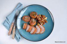 Mușchiuleț de porc în crustă crocantă - la cuptor | Savori Urbane Ale, Plates, Tableware, Kitchen, Pork, Licence Plates, Cuisine, Dishes, Dinnerware