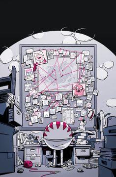 Portadón del comic-book 'Adventure Time: Candy Crapers' nº 6 USA (y último de la serie limitada).