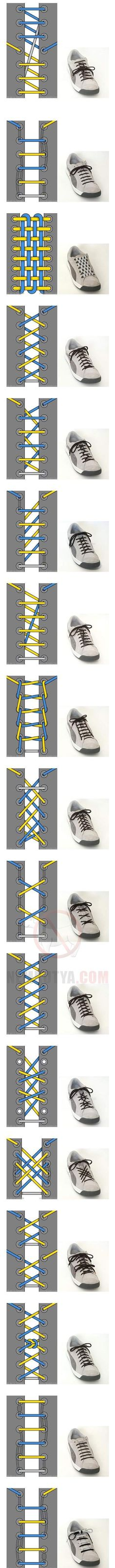 Shoe laces - who knew there were so many ways to tie them?!