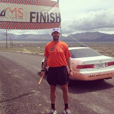 Done! 240-miles in 9 days for MS!! Segment #3 Last Vegas, NV-Milford, UT Congratulations Adam! #msruntheus