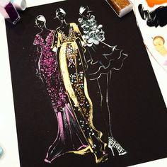 Original Fashion illustration by Houston fashion illustrator Rongrong DeVoe