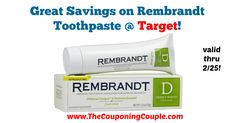 Anyone use this toothpaste? Now is a great time to pick up a tube! Great Savings on Rembrandt Toothpaste @ Target!  Click the link below to get all of the details ► http://www.thecouponingcouple.com/great-savings-on-rembrandt-toothpaste-target/ #Coupons #Couponing #CouponCommunity  Visit us at http://www.thecouponingcouple.com for more great posts!