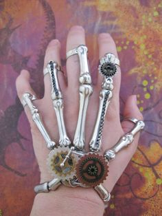 Could do this with beads and gears and rings or wire