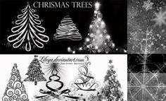 500 Christmas Photoshop Brushes and other Resources for Holiday Designs. Read full article: http://webneel.com/webneel/blog/500-christmas-photoshop-brushes-resources-holiday-designs | more http://webneel.com/christmas-cards | Follow us www.pinterest.com/webneel