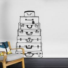 Suitcases Wall Sticker, Stickers & Ferm Living Wall Decor | YLiving