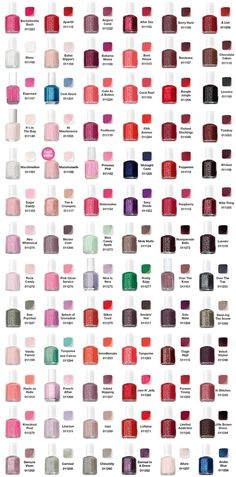 Essie Color Chart // heaven.