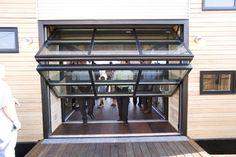 vertical bifold garage doors
