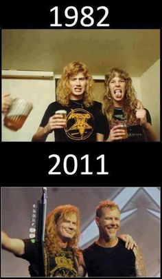 Dave Mustaine & James Hetfield, too bad Metallica kicked him out of the band being a bunch of dicks, We got Megadeth tho