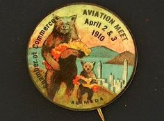 Campaign Pin Pinback Button Political Badge Election Aviation Advertising |