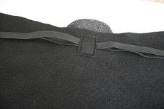 Back straps sewn