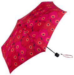 Stay stylish on a rainy day with this Mini Unikko Mini Manual Umbrella from Marimekko. Featuring the classic mini Unikko print, it is a compact umbrella and comes with a matching case. Measuring just Umbrella Shop, Mini Umbrella, Compact Umbrella, Marimekko, Cute Umbrellas, Normal Body, Poppy Pattern, Winter Accessories, Picture Show