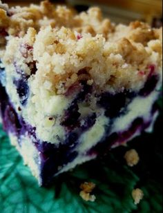 Tom and I just picked blueberries last night, and I have this baking in the oven right now.  Check back later if you want to know if it was the best ever!  Erna's Bluberry Breakfast Crumble Yes!  This was truly delicious!!