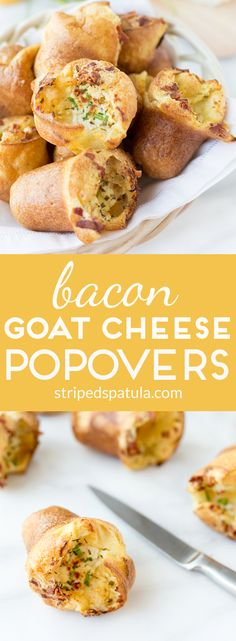 Light-textured, full-flavored, and easy to make, these Bacon and Goat Cheese Popovers are perfect for any time of day: breakfast, brunch, lunch, or dinner!
