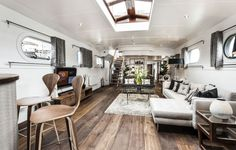 High living: The barge is on the market for £1.65million. It offers a luxury lifestyle but is cheaper than similar properties on land. Most ...