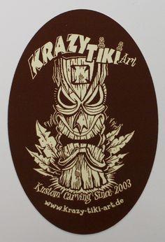 Kustom Kulture Art | Krazy Tiki -veistos / Kustom Kulture / Pinstriping Finland