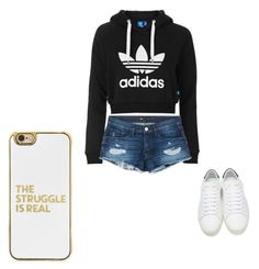 """""""Frl."""" by apowell0169 on Polyvore featuring adidas Originals, 3x1, Yves Saint Laurent and BaubleBar"""