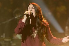 """For her performance during the Top 10 women, Kree Harrison took on Faith Hill's """"Stronger,"""" going for some gigantic high notes and making it look so easy. She's definitely a frontrunner on """"American Idol"""" this year."""