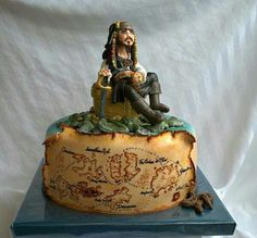 Cool Jack Sparrow cake.