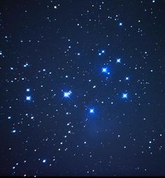 The Pleiades star cluster, also known as the Seven Sisters, marks the radiant for the North Taurid meteor shower, Constellation Taurus the Bull. Photo by Dave Dehetre The Pleiades, Star Formation, Star Cluster, Meteor Shower, Star Sky, Out Of This World, Samhain, Outer Space, Night Skies