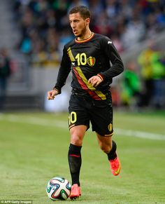 Star man: Eden Hazard is set to spearhead Belgium's World Cup challenge in Brazil