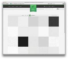 Subtle patterns: high quality tileable patterns for web designers, free. By Atle Mo.