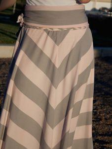 Chevron DIY Maxi Skirt | AllFreeSewing.com