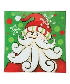 santa canvas painting - Google Search