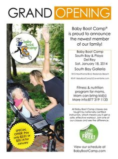 South Bay Baby Boot Camp #GrandOpening event  http://calijulz.blogspot.com/2014/01/baby-boot-camp-grand-opening-jan-18th.html @South Bay Galleria 1/18 9-11am