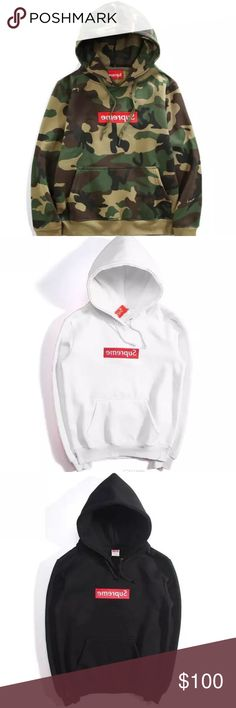 ‼️‼️🔥🔥🔥Supreme Hoodies!!! ONLY AVAILABLE HERE PREORDER SUPREME HOODIES (no brand) NOW!!! WILL SHIP OUT ~JULY 31. Not available anywhere else ‼️‼️‼️ comes in army green, black, gray, red, pink, white !! Shirts Sweatshirts & Hoodies