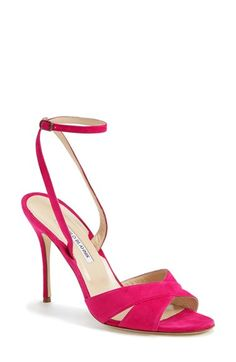 Manolo Blahnik 'Orlana' Ankle Strap Sandal (Women) available at #Nordstrom