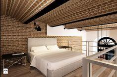 Sypialnia na antresoli w lofcie - Sypialnia - Styl Industrialny - design me too