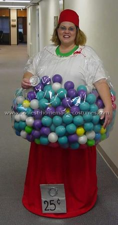 Take a look at a unique costume idea for a Gumball Machine costume submitted to our annual Halloween Costume Contest. You'll also find the most amazing photo gallery of homemade costumes, and lots of Halloween and costume party ideas. Costume Halloween, Theme Halloween, Holidays Halloween, Halloween Crafts, Holiday Crafts, Holiday Fun, Happy Halloween, Halloween Decorations, Homemade Halloween