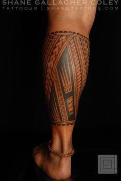 SHANE TATTOOS: Polynesian Calf Tatau, Tattoo